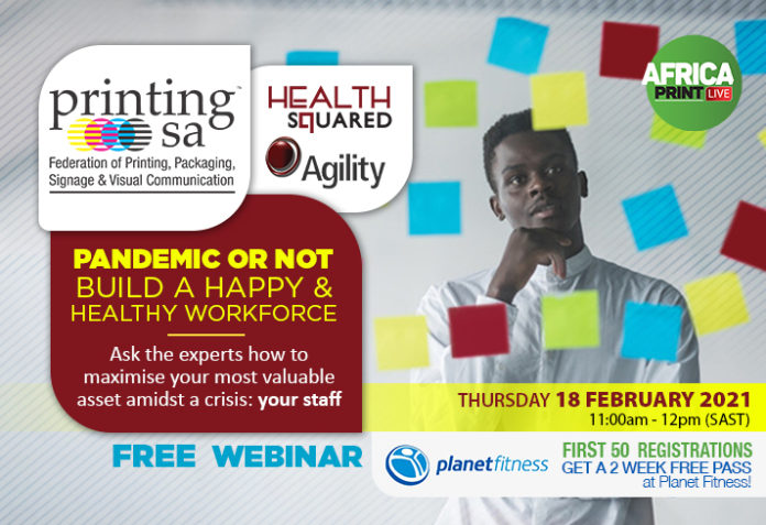 Build A Happy And Healthy Workforce Through Health Squared And Agility With Printing SA