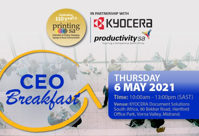 Register Online For Printing SA's CEO Breakfast This Week